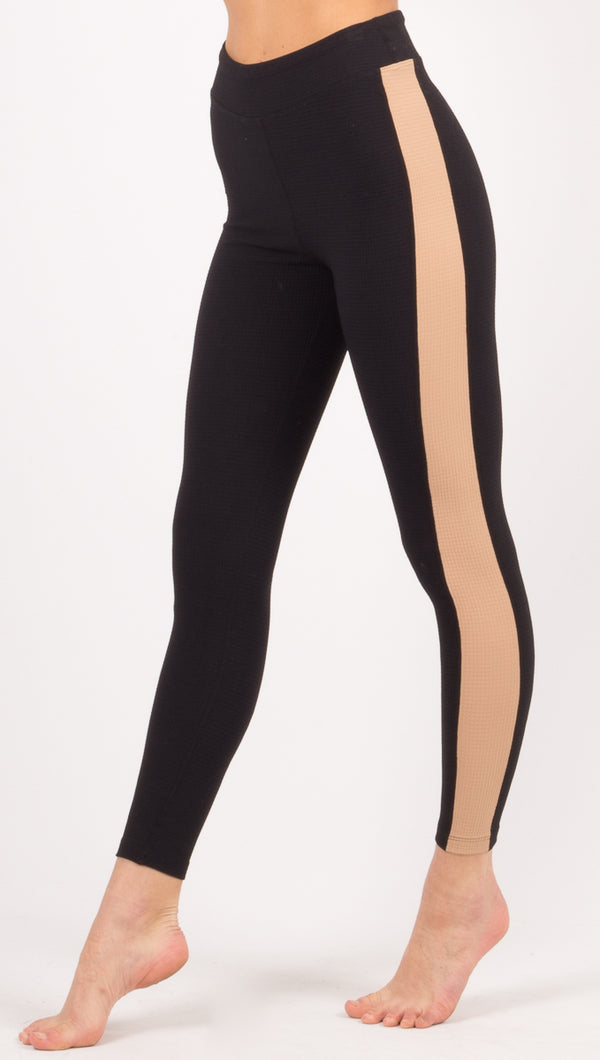 Year Of Ours Black/Tan Leggings