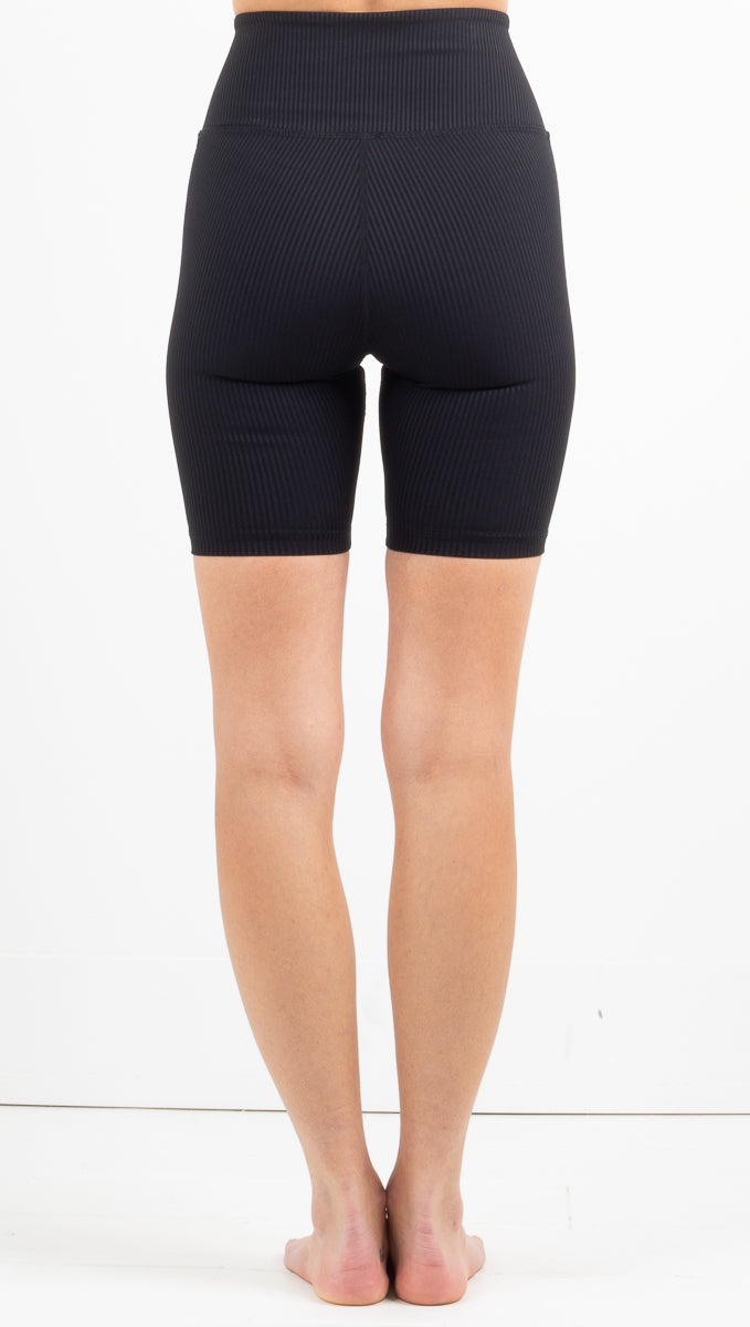 Ribbed Hockey Short - Black