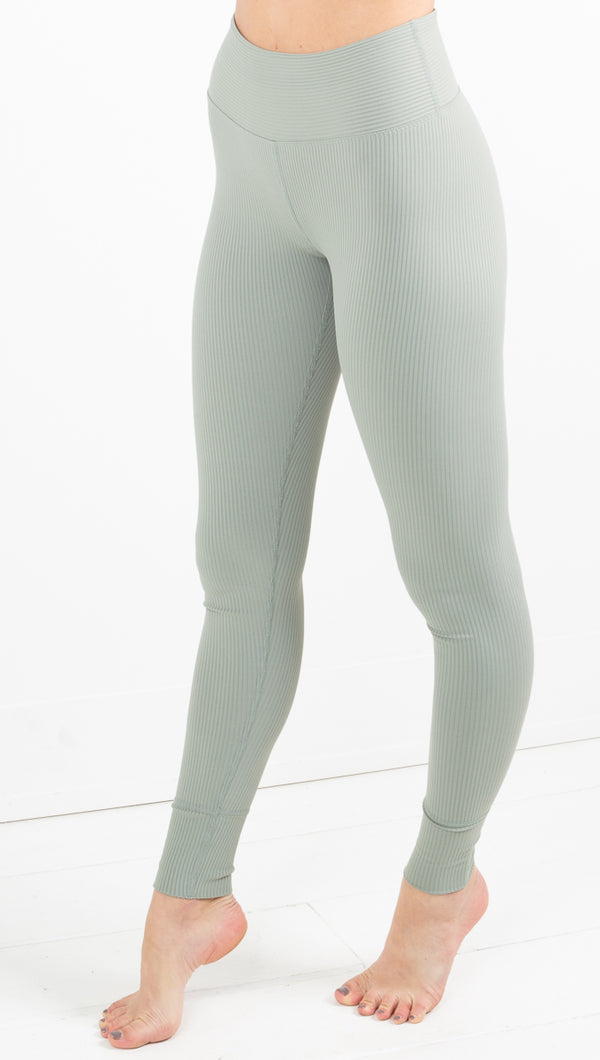 Year Of Ours light green ribbed leggings