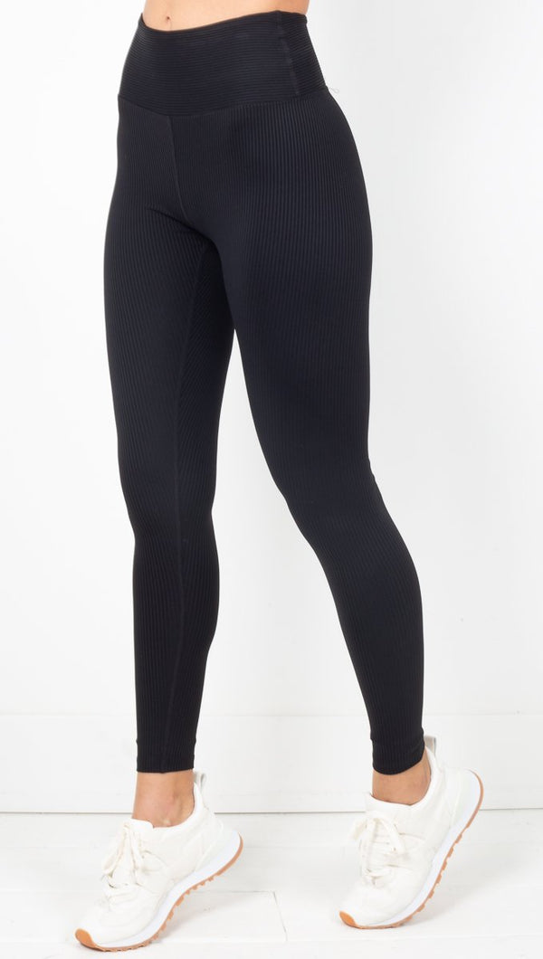 Year Of Ours Black Ribbed Leggings