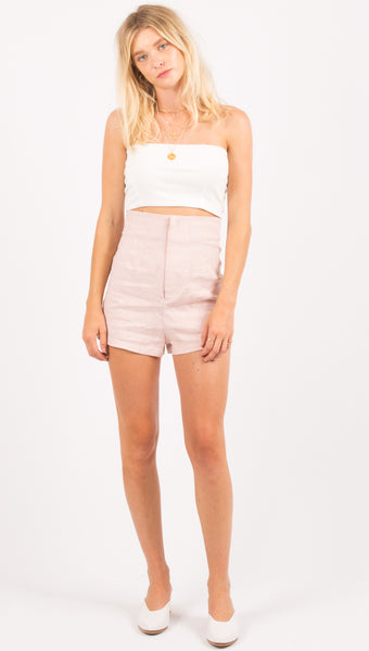 Violet Tailored Short - Lilac