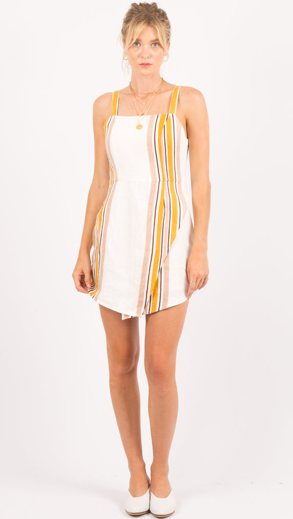 Zulu and Zephyr White Stripe Mini Dress