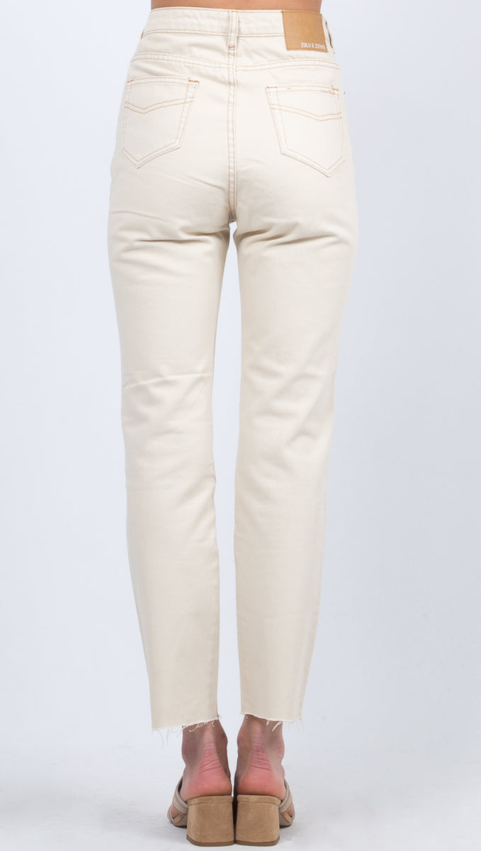 Zed High Rise Straight Leg Jean - Natural Wash