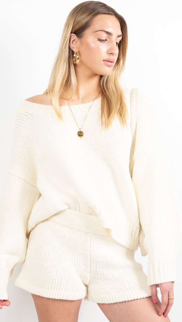 Whitewash Jumper - Warm White