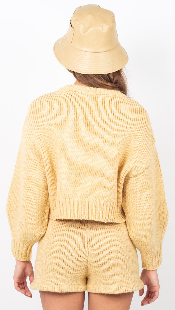 Sunshine Crop Jumper - Sunshine Yellow