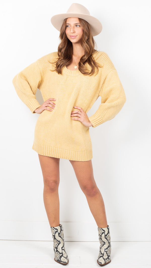 Sunshine Jumper Dress - Sunshine Yellow