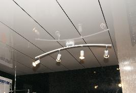 White And Chrome Thin Strip Ceiling Cladding 4m x 200mm x 10mm - Home Improvement Supplies Ltd
