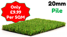 Synthetic Artificial Turf Grass (20mm Pile Height) - Home Improvement Supplies Ltd