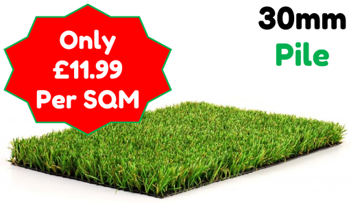 Synthetic Artificial Turf Grass (30mm Pile Height) - Home Improvement Supplies Ltd