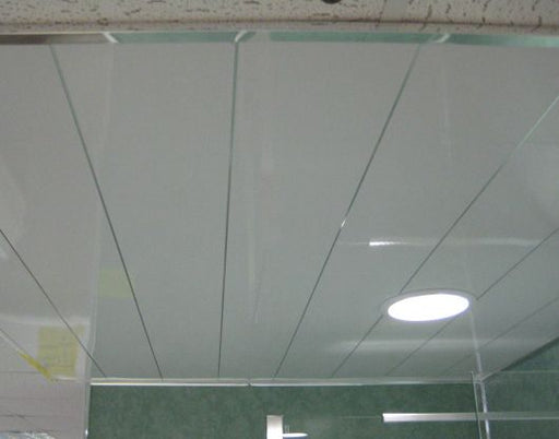 White And Chrome One Strip Ceiling Cladding 6m x 250mm x 10mm Per Panel - Home Improvement Supplies Ltd