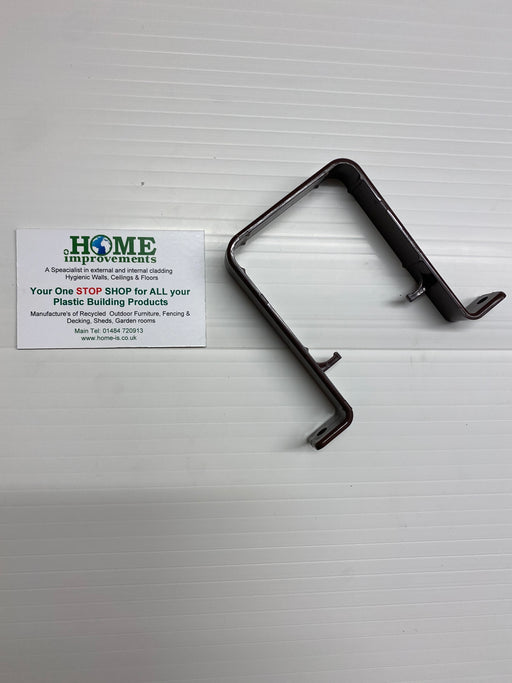 Brown Square Downpipe Pipe Clip - Home Improvement Supplies Ltd