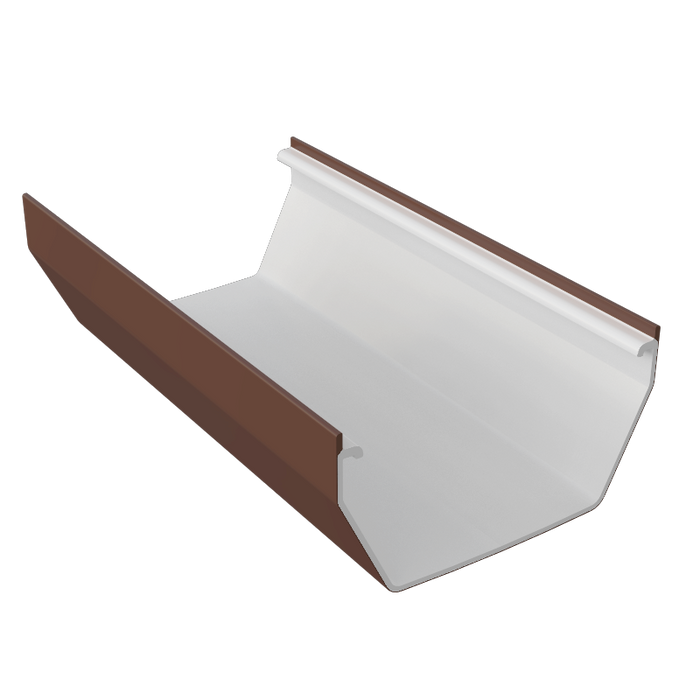 Freeflow Square Gutter 4mtrs Or 2mtrs Brown - Home Improvement Supplies Ltd