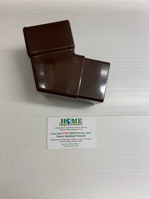 Brown Square Pipe Offset Bend 112 Degrees - Home Improvement Supplies Ltd