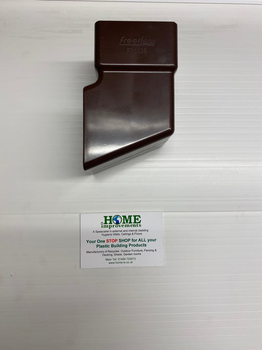 Brown Square Downpipe Shoe - Home Improvement Supplies Ltd