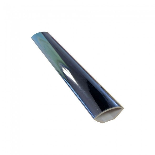 Chrome Quadrant Finishing Trim 2.6mtrs x 20mm - Home Improvement Supplies Ltd