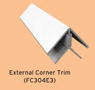 Textured Fortex Cladding External Two Part Corner Trim 3mtrs - Home Improvement Supplies Ltd
