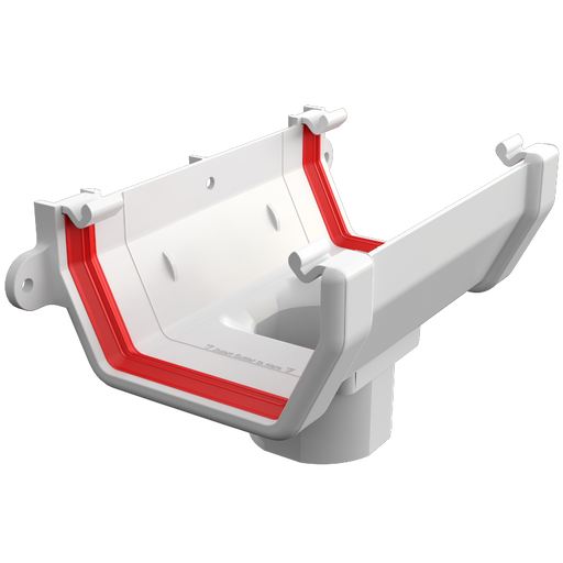 Freeflow Square Running Outlet White - Home Improvement Supplies Ltd