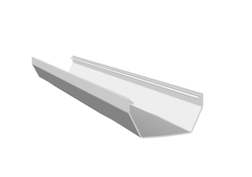 Freeflow Square Gutter 4mtrs Or 2mtrs White - Home Improvement Supplies Ltd