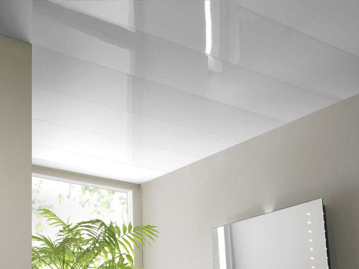 Gloss White Ceiling Cladding 2mtr x 250mm x 5mm - Home Improvement Supplies Ltd