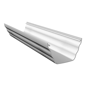 Freeflow Ogee Gutter 4mtrs Or 2mtrs White - Home Improvement Supplies Ltd