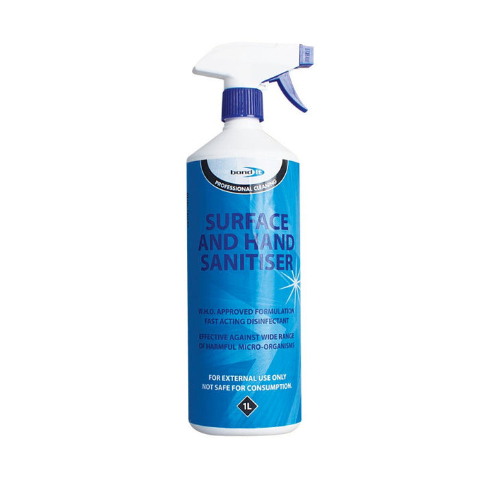 Professional Home and Office Everyday Use Surface and Hand Sanitiser (80% Alcohol) - Home Improvement Supplies Ltd