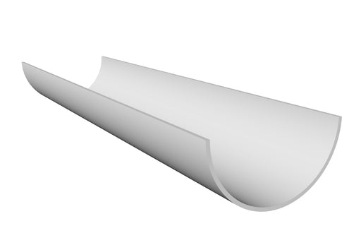 Freeflow Half Round Gutter 4mtrs Or 2mtrs white - Home Improvement Supplies Ltd
