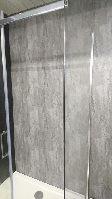 Big Silver Retro Metalic Wall Cladding 2.4m x 1000mm x 10mm - Home Improvement Supplies Ltd