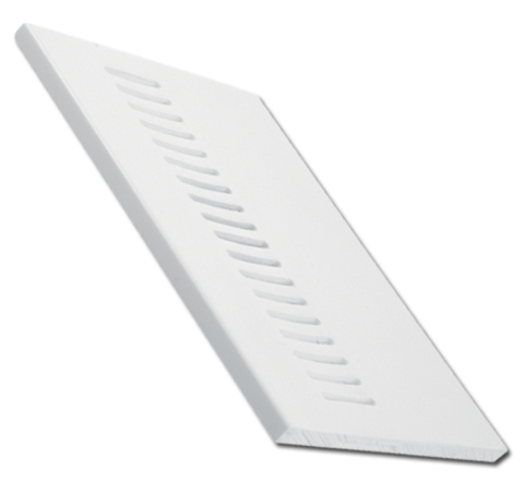 Vented Soffit Board Flat Plastic White 5mtrs - Home Improvement Supplies Ltd
