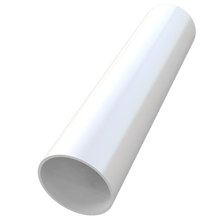 68mm Round Rainwater Downpipe White - Home Improvement Supplies Ltd