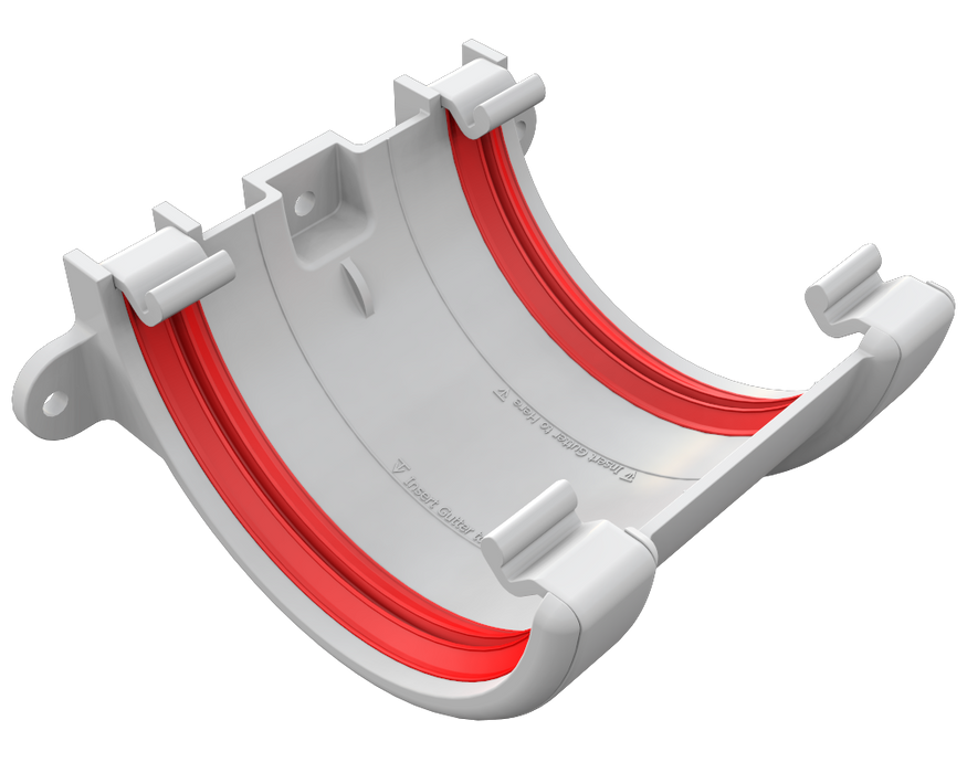 Freeflow Half Round Gutter Union white - Home Improvement Supplies Ltd