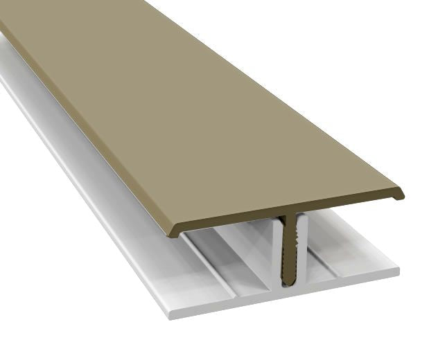 Textured Fortex Cladding Two Part H Section Joint Trim 3mtrs - Home Improvement Supplies Ltd
