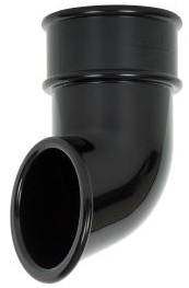Round Downpipe Shoe Black - Home Improvement Supplies Ltd