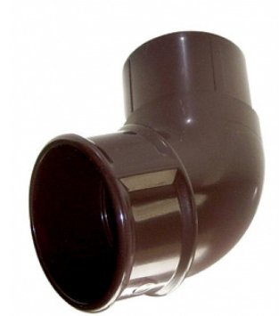 Round Pipe Offset Bend 112 Degrees Brown - Home Improvement Supplies Ltd