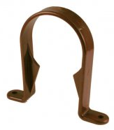 Round Downpipe Pipe Clip Brown - Home Improvement Supplies Ltd