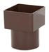 Square to Round Downpipe Adapter Brown - Home Improvement Supplies Ltd