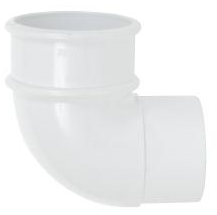 Round Pipe Bend 90 White - Home Improvement Supplies Ltd