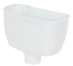 Universal Downpipe Hopper White - Home Improvement Supplies Ltd