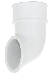 Round Downpipe Shoe White - Home Improvement Supplies Ltd