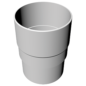 Round Pipe Socket Joint White - Home Improvement Supplies Ltd