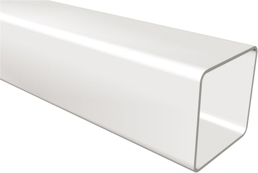 White 65mm Square Rainwater Downpipe - Home Improvement Supplies Ltd