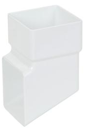 White Square Downpipe Shoe - Home Improvement Supplies Ltd
