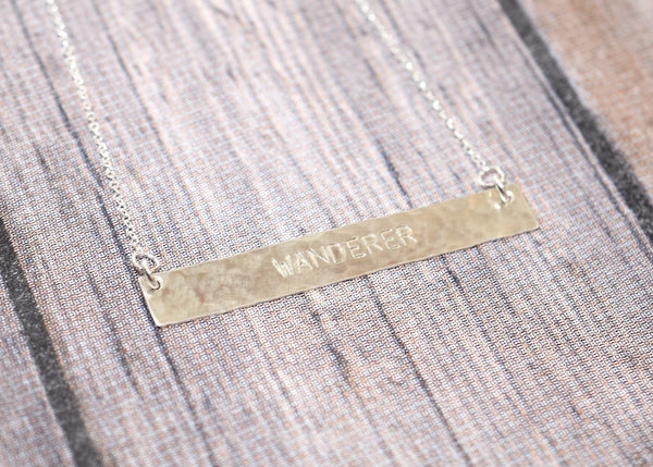Sterling Silver Bar Necklace - WANDERER