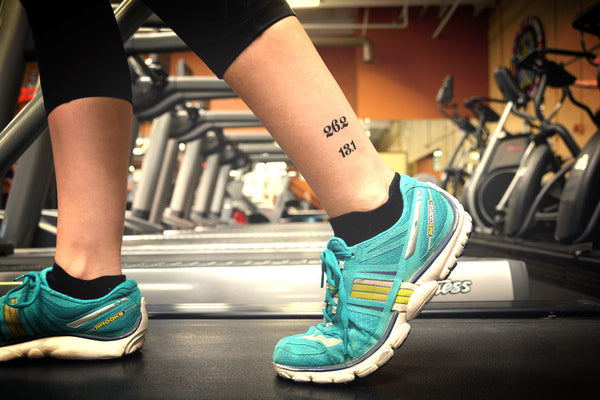 26.2 and 13.1 running temporary tattoos