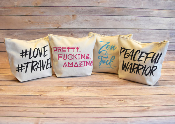 Peaceful Warrior Canvas Pouch - Trailer Boutique