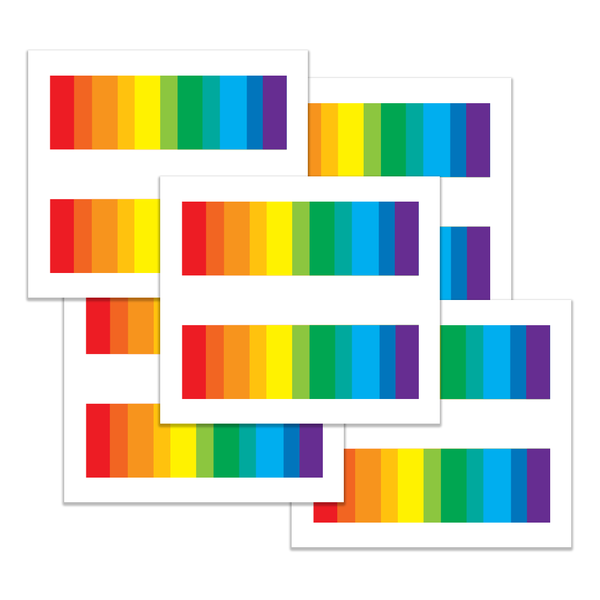 Gay Pride, LGBT, Equality Bars Tattoos Large Set