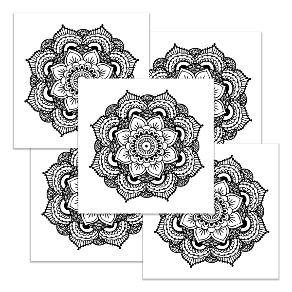 Mandala Large Tattoo Set