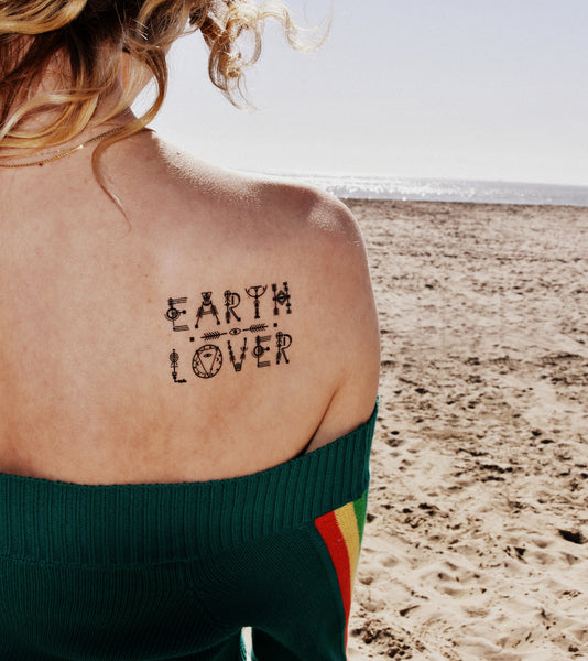 Earth Lover Temporary Tattoo