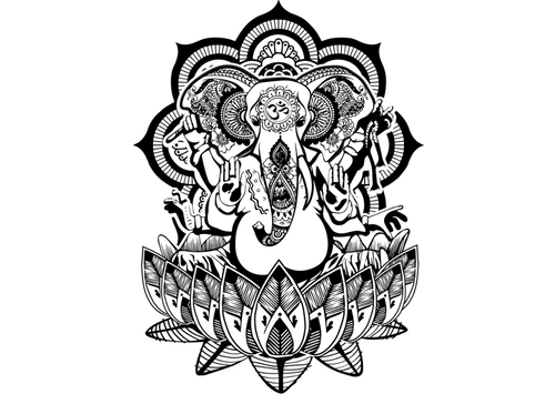 Henna Ganesha Temporary Tattoo