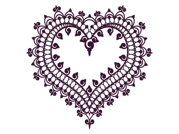 Henna Heart Temporary Tattoo - myTaT