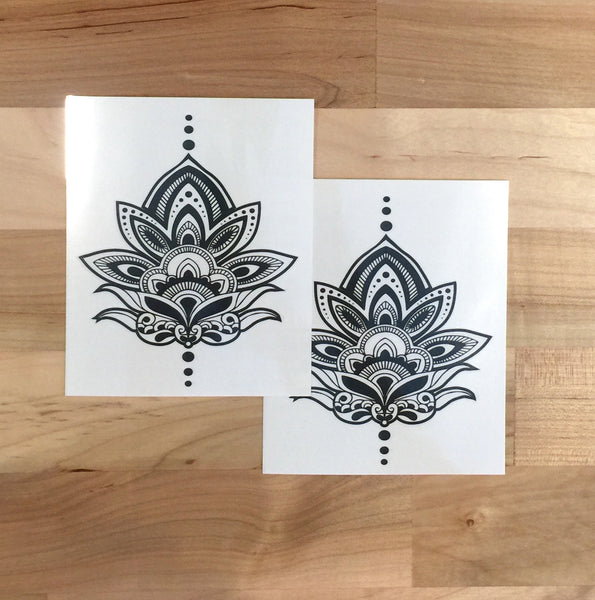 Henna Lotus Temporary Tattoo